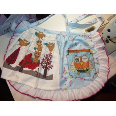2 in 1 Owl   Pocket Waist Apron and Towel Thanksgiving Day Christmas Fall  100% Cotton  One size fit  All    Ready to ship