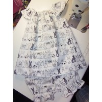 2pc Bloomer Set  Funny Bunny Back to School  Girls   Baby Toddler   Girls    Size  2t  Ready to ship