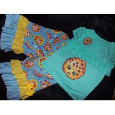 2 pc Patchwork  Capri Set  Shopkins Cookies    Girls Toddler   Size 4t Ready to ship