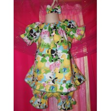 3pc Bloomer Set Farm Animals Pajama Dress up Play Day   diaper cover   cake smash birthday   Size 18-24mo