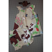 3pc Bloomer Set Pound Puppies Dog life  diaper cover   cake smash birthday   Size 12mo-18mo