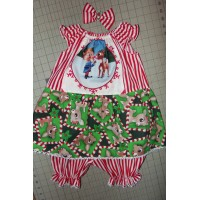 3pc Bloomer Set Rudolph the red nosed reindeer  diaper cover   cake smash birthday   Size -3t/4t