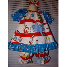 3pc Bloomer Set  diaper cover   Set  Dr Seuss   Size 24mo   Ready to ship