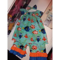 3 pc  Capri Set Back to School  Finding Dory Nemo  Girls Toddler   Size 2t,3t,4t/5t  Ready to ship
