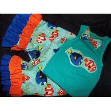 3 pc  Capri Set Back to School  Finding Dory Nemo  Girls Toddler   Size 4t/5t  Ready to ship