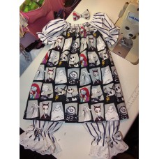 3 pc Capri Set fabric Sally and Jack the Nightmare Before Christmas Halloween  Size 4t  Ready to ship