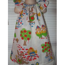 Alice in wonderland vintage new fabric   Dress Size 2t,3t ,4t or 5t  Ready to ship