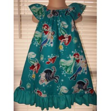 Ariel Sebastian  Prince Ursula   Patchwork Back to School   Dress Size 3t/4t  21in length