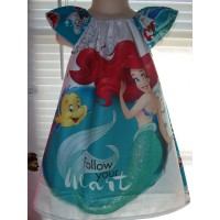 Ariel   Sebastian  birthday dress,  gift, Disney toddler girls dress Size 3t Ready to ship