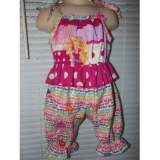 Baby Girl Barbie  School Daycare  Romper  Girls    Size 3t   Ready to ship