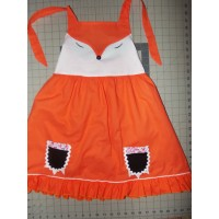 Back to School   Fox   Ruffle  Dress   Size 5t Ready to ship(see measurements)