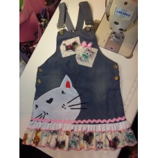 Back to School Jumper Baby Kittens  Cat's  Girls    Size 5t/6   Ready to ship