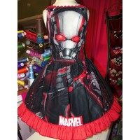 Back to School NEW Handmade Ant-Man  Cute Girl Dress   Patchwork  Fun  Dress  Size 4t  24in length Ready to Ship