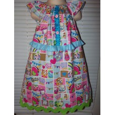 Back to School Shopkins cookies Summer  Dress Size 12mo,18mo,2t,3t or 4t Ready to ship