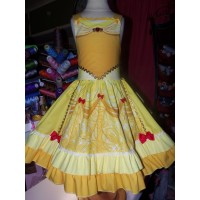 Belle Dress / Disney Princess Dress Beauty and the Beast Belle Costume Princess  Ruffles  Dress Size 5t/6    27in length Ready to Ship