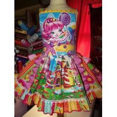 Candyland Dress, Candyland Party Dress, Candyland Birthday Dress, Candyland Birthday, Candyland Girls Dress,size 18mo  Ready to Ship