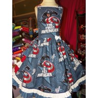 Captain America   Dress  Custom order any  Size  2t to  8/10 Ready to ship(see option)