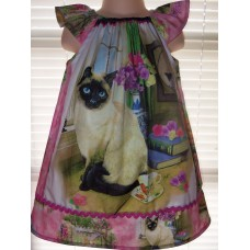 Cat Lovers Kitty Cats  birthday  dress up Play Back to School   Summer   Dress Size  3t Ready to ship
