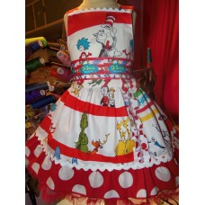 Cat in the Hat - Dr Seuss Dress - Girls  Clothing - Pageant Dress - Birthday Party Dress  Size 2t   19in length Ready to Ship