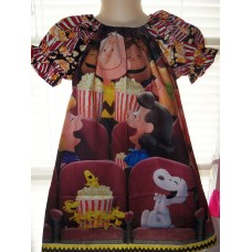 Charlie Brown movie theater Popcorn and Peanuts  Dress Size  4t  Ready to ship
