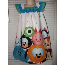 Disney Emoji Patchwork Back to School Dress Size 5t 23in length image