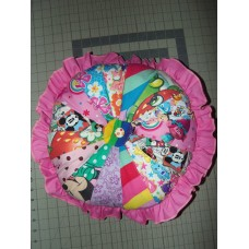 "Disney characters Girl Room Pillow Pink Ruffle 17"" x 17"""