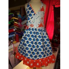 Dory and Nemo Beach summer Dress Vintage fabric Back to School  Dress  Size 5t  Ready to Ship