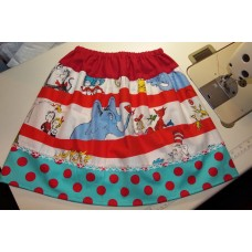 Dr Seuss Skirt, Seuss Party, Horton Hears A Who, Thing 1 Thing 2, Seuss Birthday, Read Across America Size  6   ready to ship.