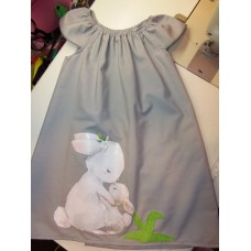 Easter Bunny Mom and Baby Back to School     Dress Size ,3t  4t or 5t Ready to ship