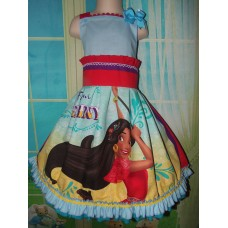 Elena Dress / Disney Inspired Princess Elena of Avalor Inspired CostumeSize 6/7  Ready to Ship