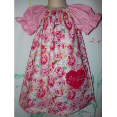 Embroidery Heart Pocket Valentine Day  Romantic Love Kiss Sweet  Dress Size 3t  Ready to ship