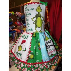 Grinch Christmas Ruffle  Dress  Size 3t Ready to ship(see measurements  )