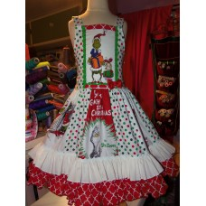 Grinch  Christmas  Dress Size 12/14 girls year old   Ready to ship(see measurements)