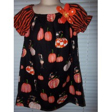 Halloween pumpkin and mouse girl dress Size 2t 20in length