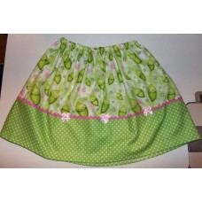Happy Peas Easter Pink  Bows Baby Peas  Skirt Size 3t ONLY   ready to ship.