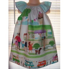Ice Cream Day Summer Girls  kids clothes Dress  Size  4t (ONLY)   Ready to ship