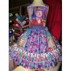 It's a Small World  Birthday, Tea Party Fairy tale Dress   Size 4t  Ready to ship LAST ONE