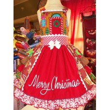 Merry Christmas Vintage Gingerbread House  Gingerbread Girl Costume Dress Size 3t