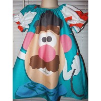 Mr. Potato Head  Baby Girl Dress   Size 4t     21 in length