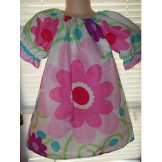 Patchwork  Back to School,Big Flowers Daisy Summer ,  Dress Size 2t,3t,and 4t  Ready to ship