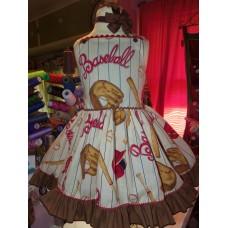 Patchwork  Baseball Game  Tutu Dress Size 3t Ready to ship