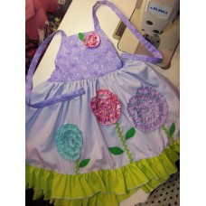 Patchwork Boutique Style Handmade Fabric  Flowers Wedding/Party  Summer  Baby Doll  Dress  Size 3t/4t  Ready to ship