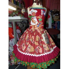 Patchwork Christmas Gingerbread Village   Ginger cookies   Gingerbread Girl Costume Dress  Size 5t/6