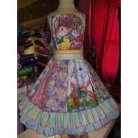 Patchwork   Easter Bunny Eggs     Dress Size  6   Ready to ship