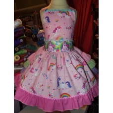 Patchwork   Easter Rainbow Unicorn     Dress Size  3t Ready to ship(Can be made in sizes 2t-6  CUSTOM ORDER ONLY)