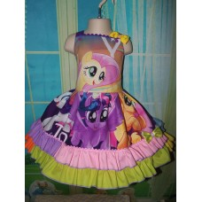 Patchwork Little Pony   Birthday, Tea Party Fairy tale Dress    Size 3t Ready to ship(see option)