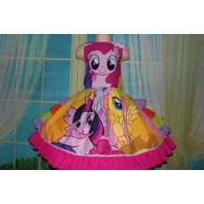 Patchwork Little Pony  Easter Birthday, Pinkie Pie Tea Party Fairy tale Dress  ONLY Size 5t Ready to ship(see option)