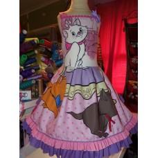 Patchwork Marie Aristocats Pink Disney  Back to School  Birthday, Tea Party  Dress  Tutu skirt   Size 5t  Ready to ship