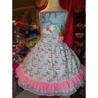 Patchwork Marie Aristocats Pink Disney  Back to School  Birthday, Tea Party Fairy tale Dress  Tutu skirt   Size 4t  Ready to ship
