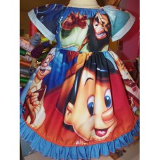Patchwork Pinocchio   Disney Movies  Girls birthday party pageant dress    Dress Size  2t/3t Ready to ship